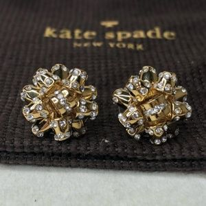 KATE SPADE ' PAVE' BOURGEOIS BOW' STUD EARRINGS